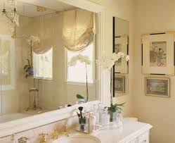 Los Angeles Crema Marfil Marble Bathroom Traditional With Feminine Rectangular Mirrors Wall Decor