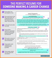 Cv Profile Examples Career Change Resume 3