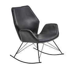 Bryce Accent Rocking Chair - Black Leather Isla Wingback Rocking Chair Taupe Black Legs Safavieh Outdoor Living Vernon White Rar Eames Colby Avalanche Patio Faux Wood Rapson Amazoncom Adults For Heavy People Clips Monet Rattan Rocking Chair Base Pp Ginger
