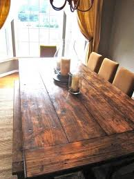 Best 25 Farmhouse Dining Tables Ideas On Pinterest Throughout Rustic Table Designs 12