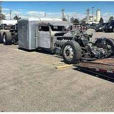 Lowered Rat Rod Tractor Trailer | Rat Rods | Semi Trailer, Trailers ...