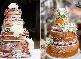 Winter Berry Naked Wedding Cakes With Images From Pinterest Left French Made Right
