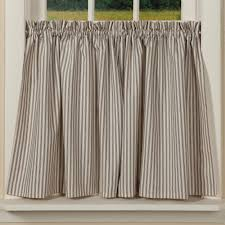 Country Curtains Sturbridge Hours by Country Ticking Curtain Tiers Striped Window Treatment
