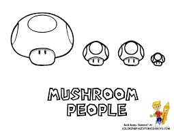 Mario Coloring Sheets To Print Mushroom People At YesColoring
