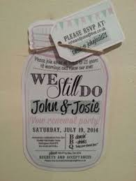 Our Vow Renewal Invites