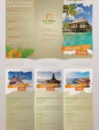 Tri Fold Travel Brochure Examples Tourist Brochure Example