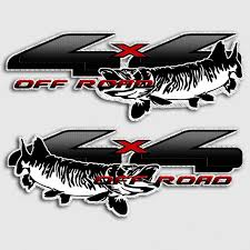 100 Ford Stickers For Trucks 4x4 Muskie Fishing Truck Decals