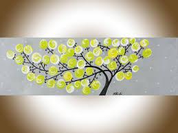 Yellow Grey Wall Art Nursery Decor Narrow