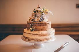 Naked Cake Sponge Iciing Outdoorsy Rustic Sunflowers Wedding Helenjanesmiddy