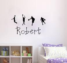 basketball personalisierte namen wandtattoo vinyl aufkleber wohnkultur schlafzimmer tapete kinder wandsticker wandbilder wish
