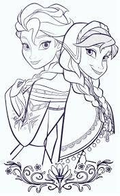 Elsa And ANna Frozen Coloring SheetsColoring
