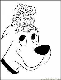 Printable Coloring Page Clifford Big Red Dog Cartoon