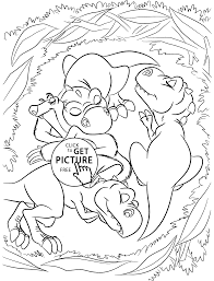 Ice Age Coloring Pages Dinosaurs From For Kids Printable Free Drawing