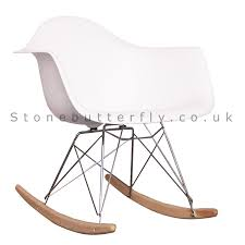 Charles Ray Eames Style RAR Rocking Chair - White | Want ...