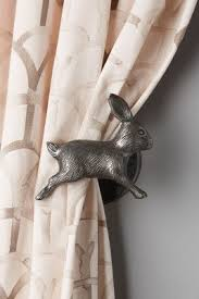 White Antler Curtain Tie Back by Curious Rabbit Tieback Rabbit Anthropologie And White Bunnies