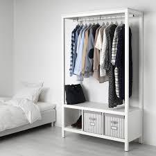 hemnes kleiderschrank offen weiß las 120x50x197 cm