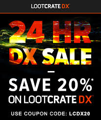 Loot Crate DX 24-Hour 20% Coupon Code + October 2017 ... Loot Crate June 2014 Review Transform Coupon Code Vault Golden Ticket Please Comment If You Claimed It Crate Sanrio Coupon Code Fresh Step Lweight Best Loot Modellscom Coupons Sb Muscle Free Shipping Prezibase Man Child Of Mine Carters Secret Promo Codes Hidden Prizes Deals Uk Thick Quality Glass Crates Promo Stein Mart Charlotte Locations Dragon Gourmet Does Qdoba Give Student Discounts March 2017 Primal Spoilers Nerdspan