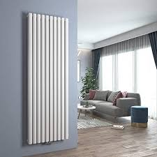 design heizkörper oval vertikal paneelheizkörper heizung mittelanschluss wohnzimmer badezimmer heizkörper 1800x600mm doppellagig weiß