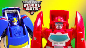 100 Rescue Bots Fire Truck Transformers Toy UNBOXING Chase Policebot Heatwave Bot Kids Playing