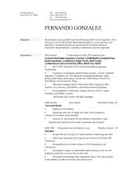 Real Estate Apprasers Resume Template Gallery Of Tabular Appraiser Free