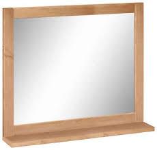 home affaire wandspiegel westa breite 60 cm badezimmerspiegel mit rahmen massivholz kiefernholz 1 ablage
