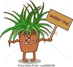 clipart vecteur de pot fleur dessin animé signe csp36883755