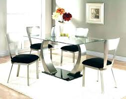 Full Size Of Round Glass Dining Table For 6 Black Set 4 White Chairs Home Design