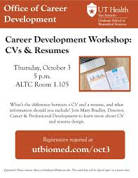 Career Development Workshop: CVs & Resumes | UT Health San ... Resume Vs Curriculum Vitae Cv Whats The Difference Definitions When To Use Which Between A Cv And And Exactly Zipjob Authorstream 1213 Cv Resume Difference Cazuelasphillycom What Is Infographic Examples Between A An Art Teachers Guide The Ppt Freelance Jobs In