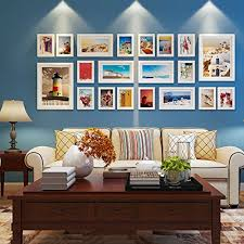 photo frame collage living room solid wood combination