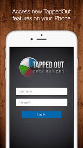 tapped out deck builder on the app store