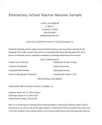 Best Resume Format For Teachers Elementary Teacher Examples Maths Pdf