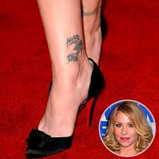 The Inside Of Right Ankle Christina Applegate Have Tattoos Agape Meaning Word Is That Unconditional Love Which Comes From Greek