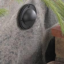 vista outdoor lighting black aluminum eyelid 12v halogen