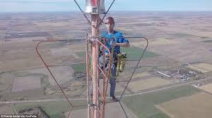 the vertigo inducing moment a daredevil climbs 1 500 to