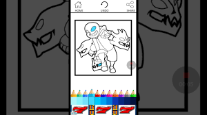 Coloring Me On The Undertale Book App