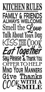 Primitive Kitchen STENCIL Rules Large For Painting Signs Family Airbrush Crafts Wall Art And Decor