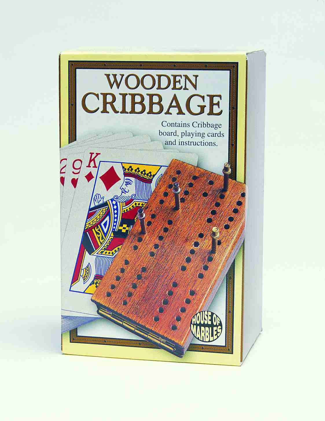House of Marbles 221153 Wooden Cribbage Board Game