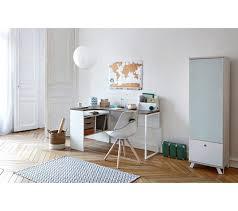 bureau angle design bureau d angle alkor imitation chêne gris blanc bureaux but