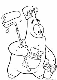 Funny Patrick Star S Spongebob Cartoon1d0c1 Coloring Pages Print Download