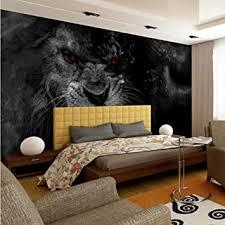 fototapete wohnzimmer schlafzimmer tier löwe schwarz weiße