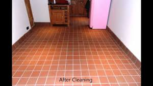 Ceramic Tile Haze Remover by Cleaning And Removing Grout Haze From A Quarry Tiled Floor Youtube