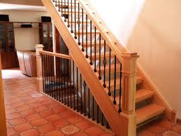 Simple Stair Banisters : Stair Banisters And Handrails For Your ... Wrought Iron Stair Railings Interior Lomonacos Iron Concepts Remodelaholic Brand New Stair Banister Home Remodel Cost Of Cool Banisters And Model Staircase Wonderful Photos Concept Caan Ct Brooks And Falotico Associates Fairfield County Railings Railing Stairs Kitchen Design Baby Gate For Without Wall Gear Gallery Best 25 Banister Ideas On Pinterest Railing Renovation Using Existing Newel Blog Designed Ideas 67 With Additional Interior