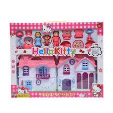 Barbie Dollhouse Miniatures DIY Assembled House Kit Toys W LED