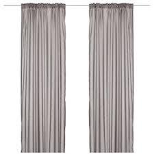 ikea vivan curtains 1 pair grey 145x300 cm amazon co uk