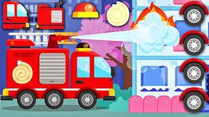 Cars & Trucks For Junior Kids | Fire Truck For Children | Build Fire ...