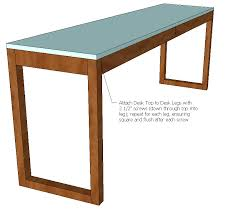 ana white ikea besta burs inspired desk with drawers diy
