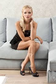 100 Sexy Living Rooms Blond Sexy Girl Sitting On Her Sofa In Her Living Room With
