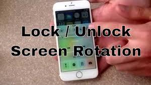 iPhone 6 iPhone 6 plus How to lock unlock screen rotation