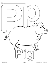 Uppercase And Lowercase Letter Pp Coloring Page