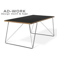 table de bureau table de repas ou bureau ad work plateau recouvert de linoléum noir